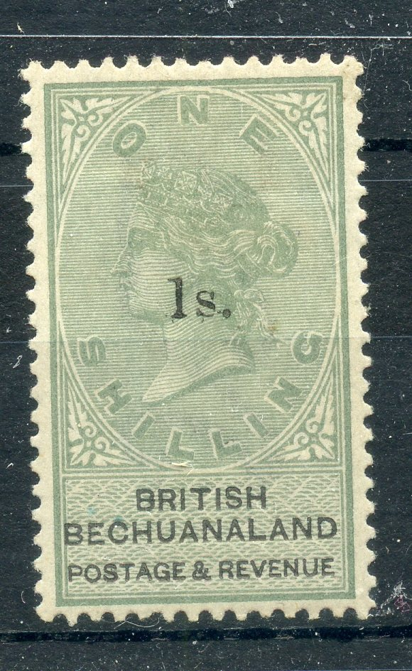 BECHUANALAND 1888 1/- on 1/- green surcharge mint, very light toning. SG 28. Cat £250.