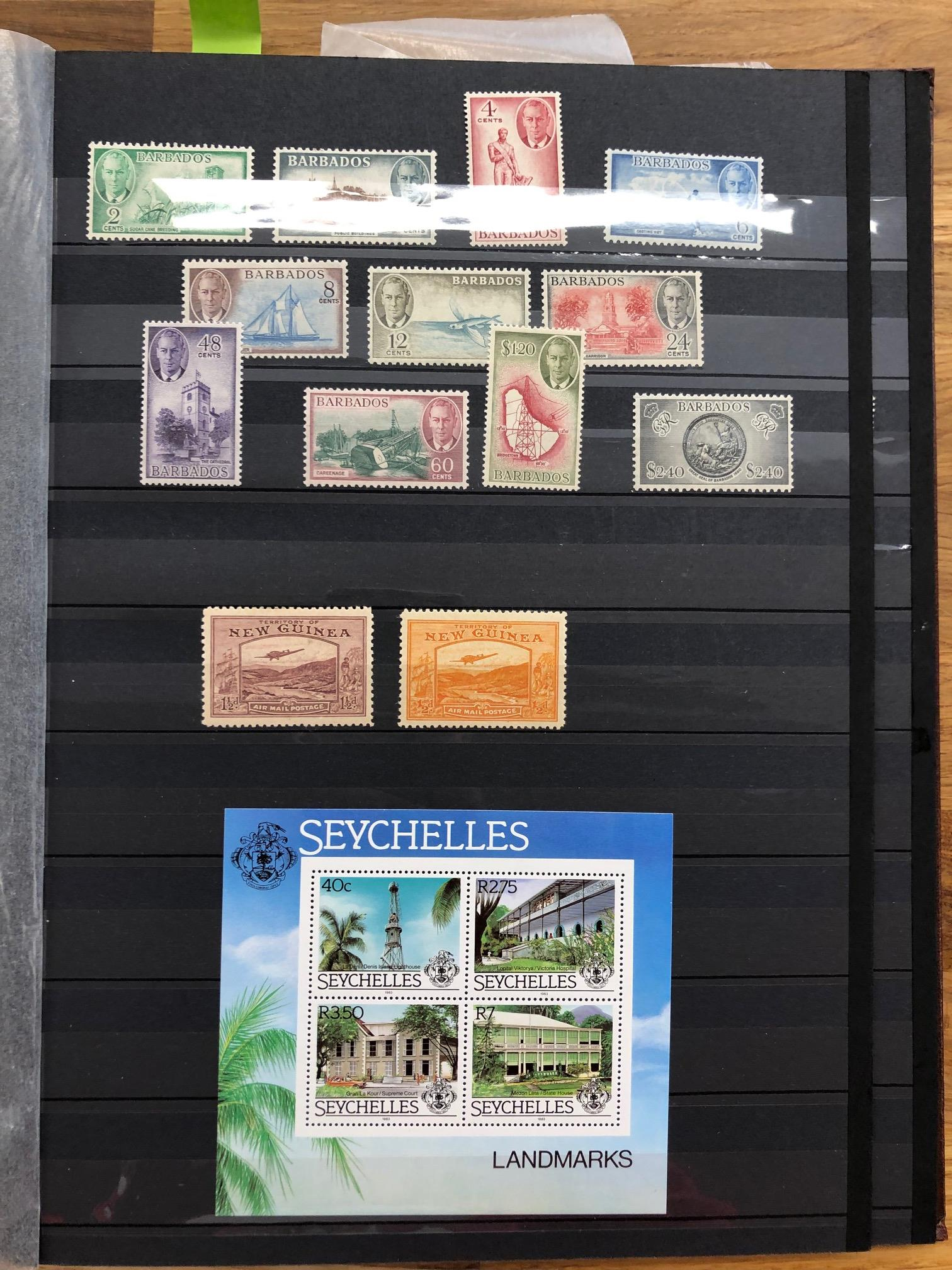 COMMONWEALTH sparse but useful little mint lot with Barbados 1950 set complete, NZ KG6.