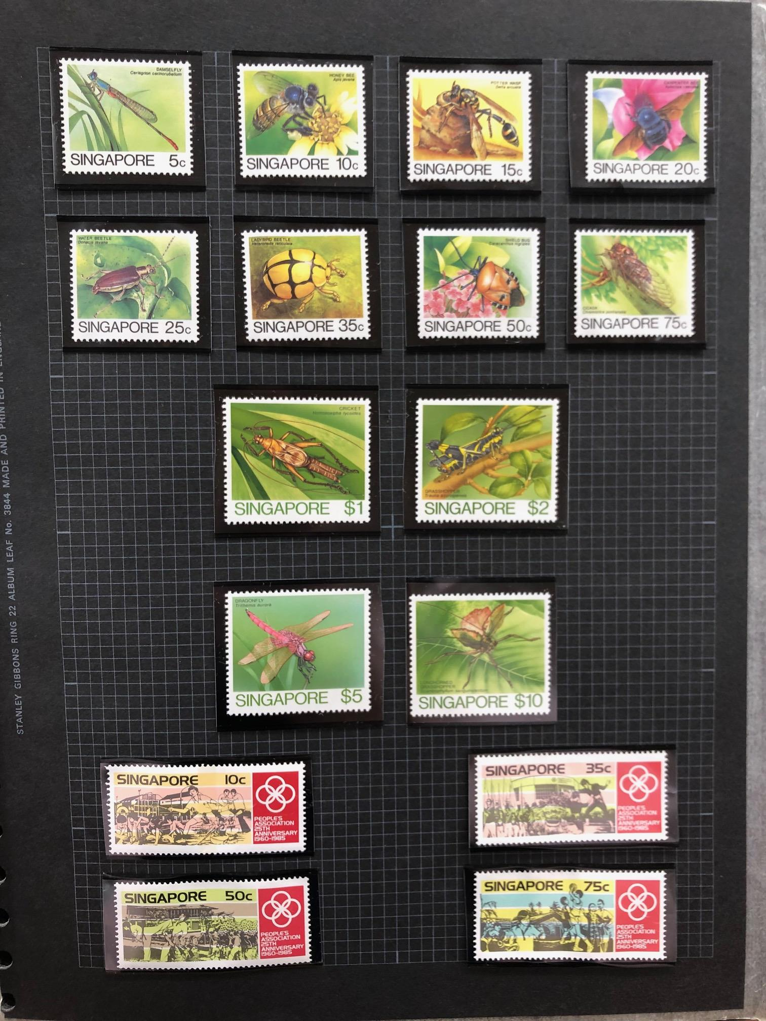 SINGAPORE 1980 - 1993 um collection in album with what appears to be a complete run of commem sets - Image 2 of 2
