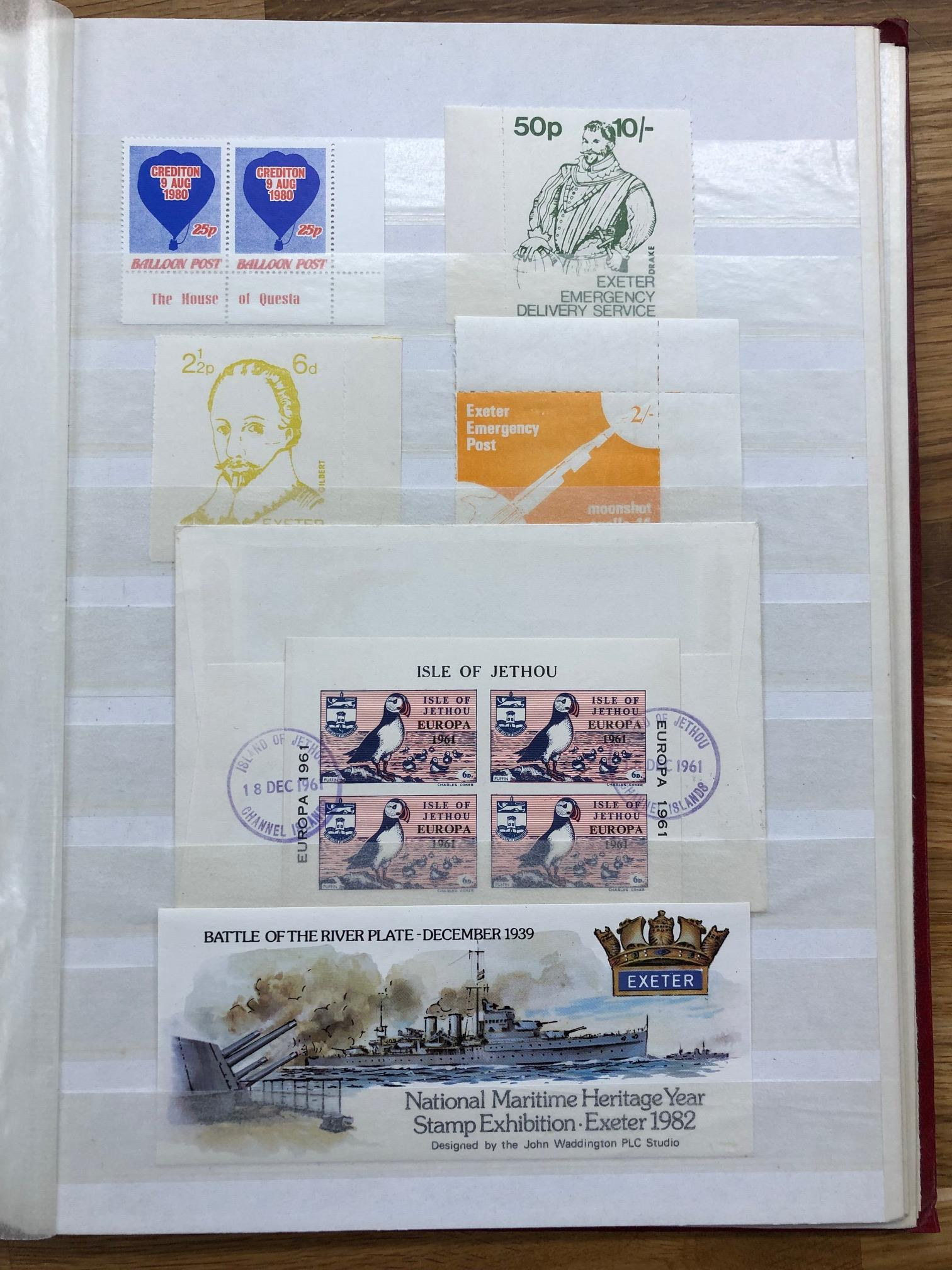 LOCALS stock book well filled with Alderney, Herm, Sark, Lundy etc. Stamps, covers, sheets, trials - Image 2 of 2