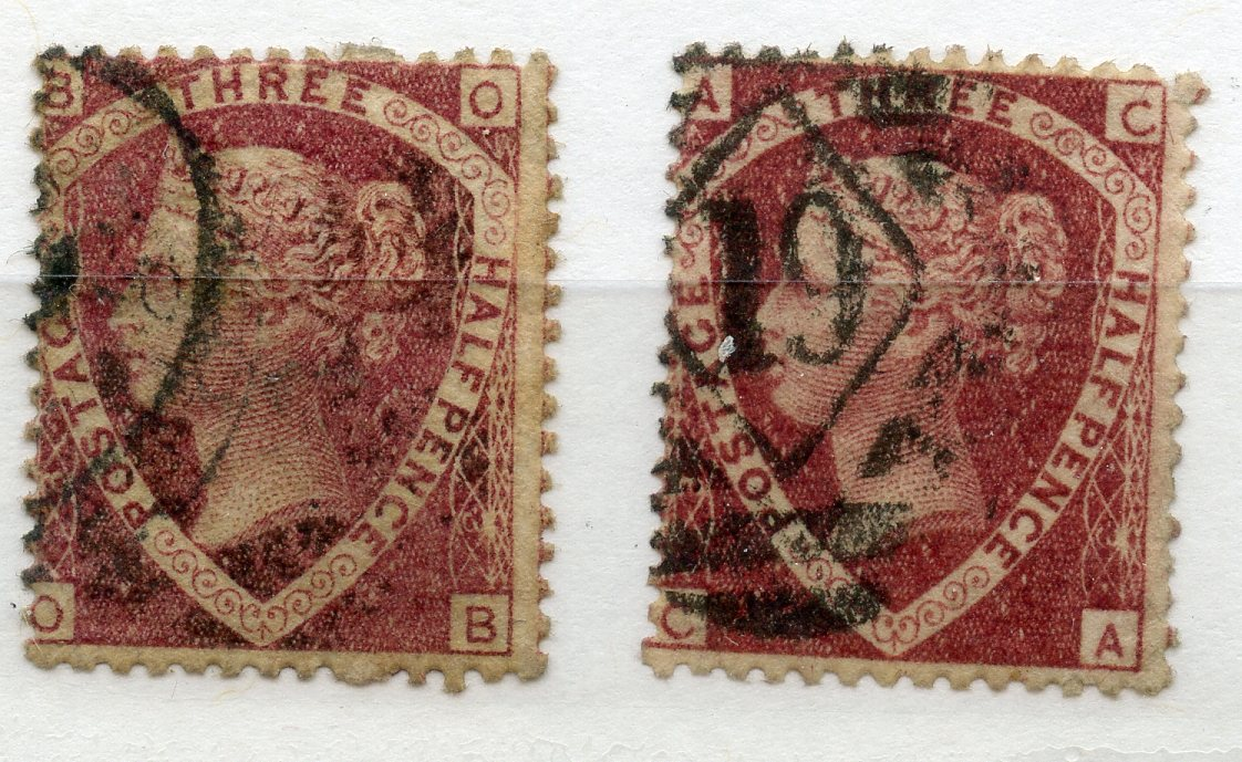 1870 1½d lake plate 3 x 2 good used. SG 52. Cat £150.