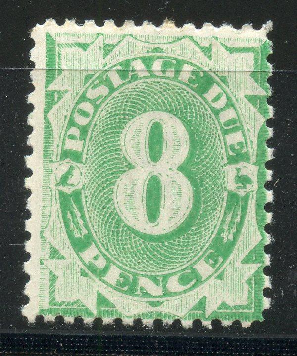 AUSTRALIA POSTAGE DUES 1902 - 04 6d emerald green perf 12 compound 11 mint. SG D29. Cat £140.