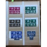 OMNIBUS 1963 FFH collection of both CW and foreign in blocks of 4 um and used singles. Better