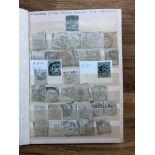 PERFINS KE7 ½d dark greens in stock books, large quantity, duplication in alphabetical order,