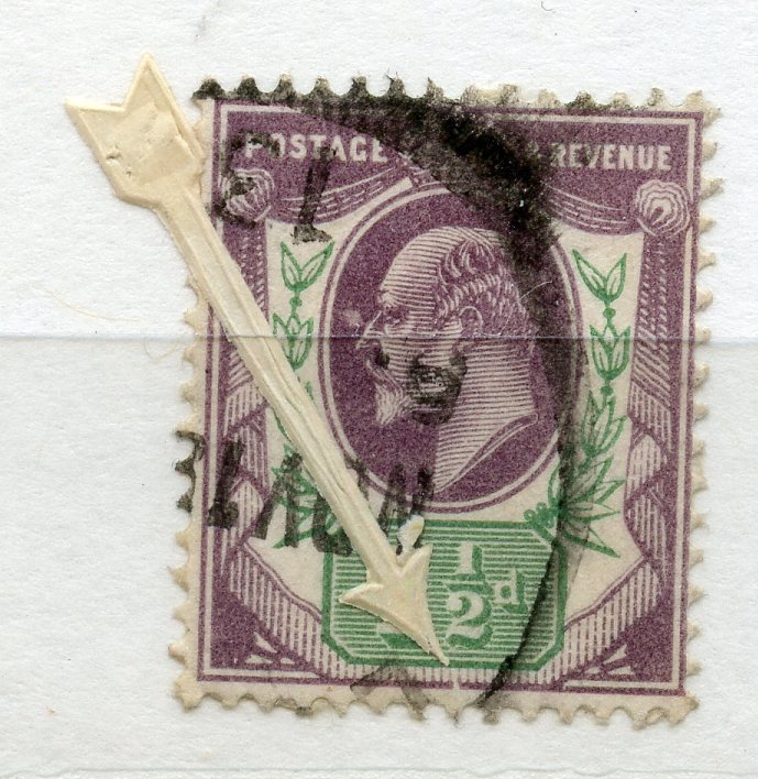 """1902 - 10 1½d dull purple and green showing the """"Frame broken at bottom"""" variety fu. SG Spec M8f."""