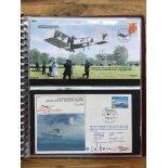 COVERS early Flight Memorabilia. An album containing 28 signed Commemorative Flight covers plus