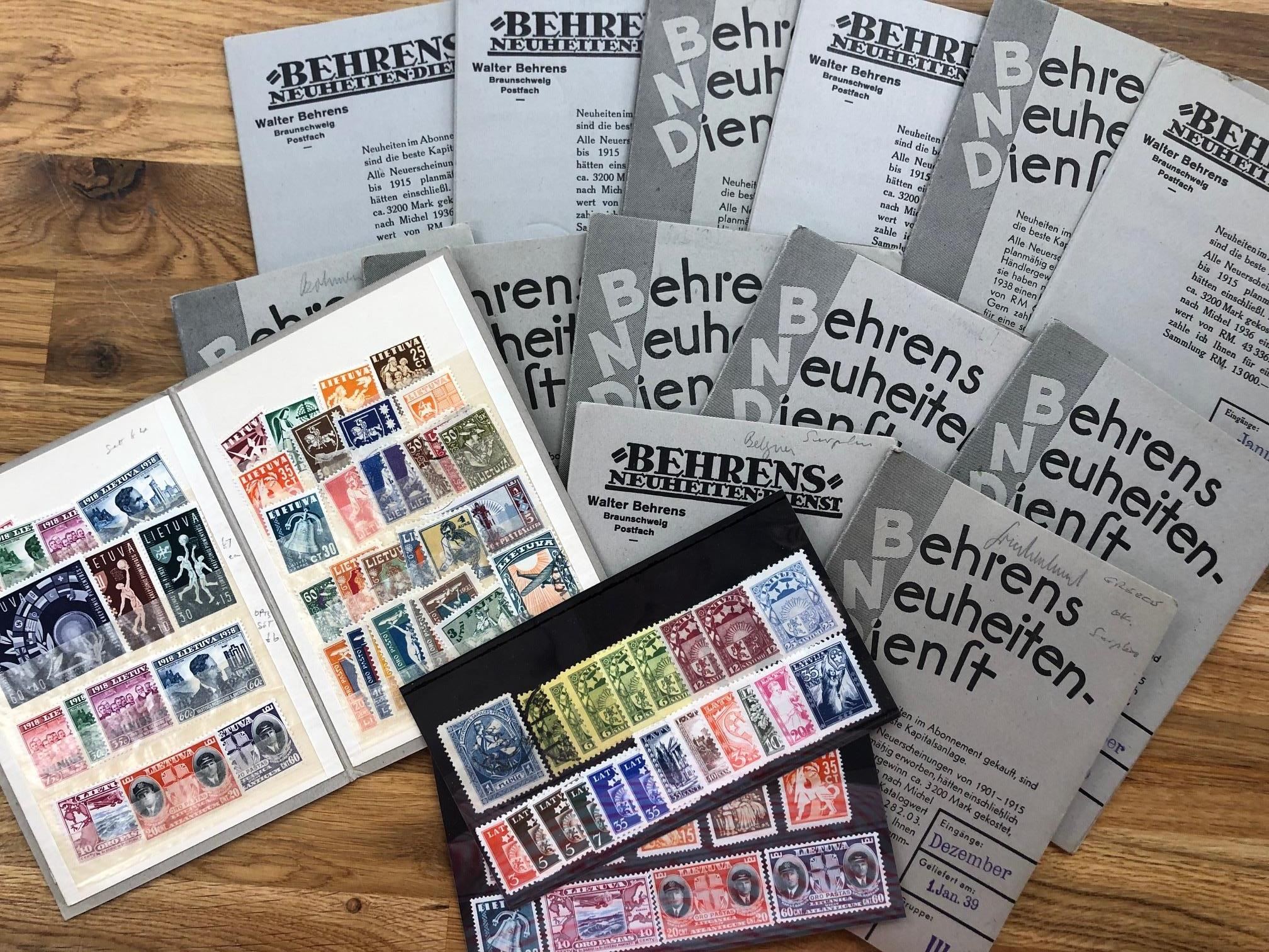 BOHEMIA and MORVIA um and used including blocks, PRs etc, in a batch of German approval booklets (