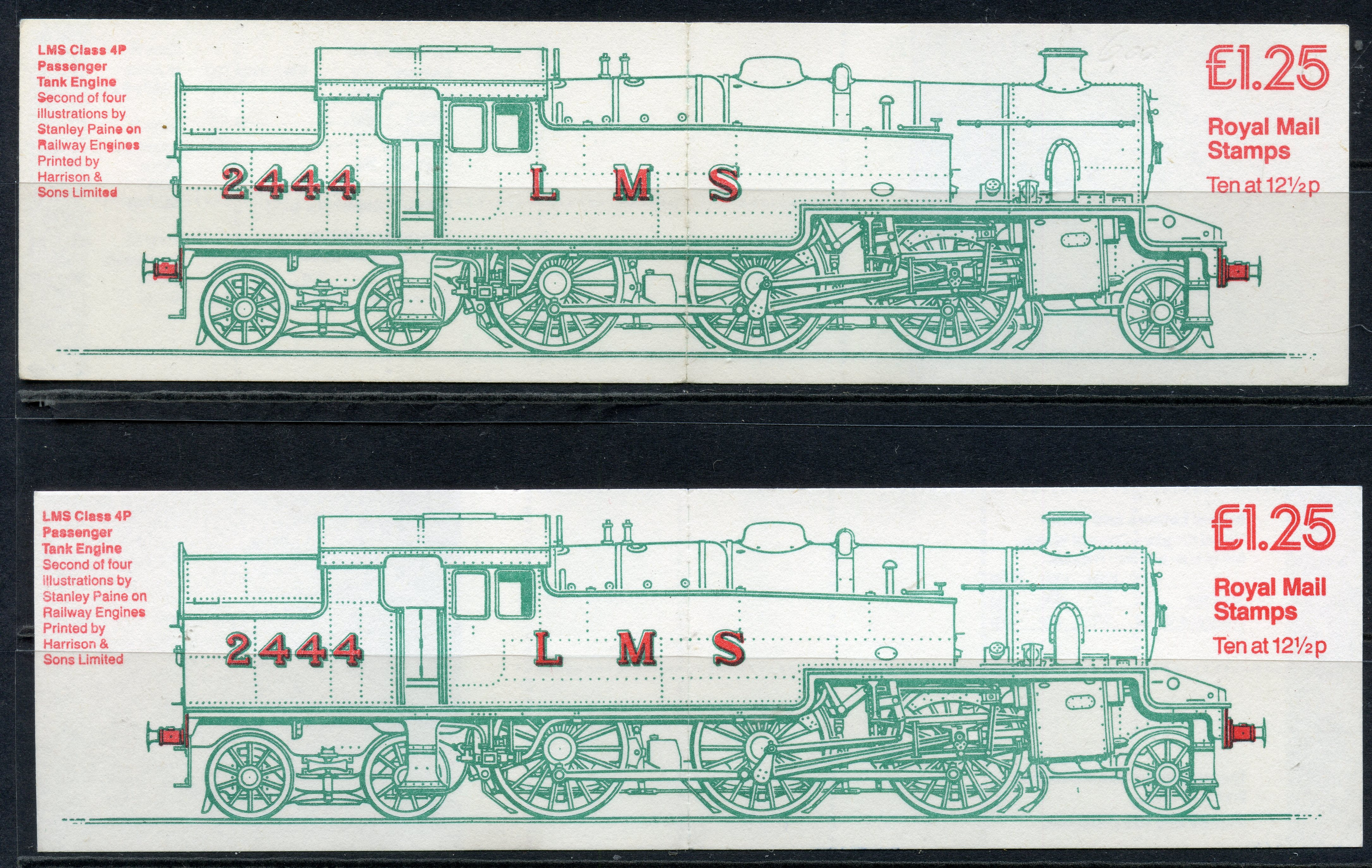 BOOKLETS 1983 £1.25 Engine corrected rate both selvedge at left and right. SG FK6a A, B. Cat £205.