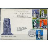 FDCs 1972 Village Churches on special Saxon Tower cover typed address tied with Earls Barton