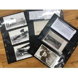 COVERS early Flight PC collection on stock cards includes some with purchase details eg. Original