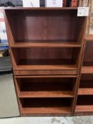 BOOKCASE - MELAMINE WOOD - 2PCS