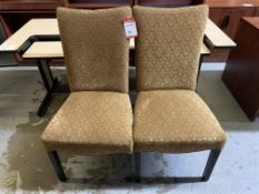 WOOD & FABRIC DINING CHAIRS - 2PCS