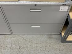 PRO SOURCE - 2 DOOR UPRIGHT DOUBLE FILE CABINET
