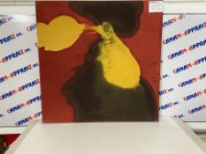 """36""""x36"""" Abstract Painting, Red & Yellow"""