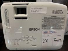 EPSON - 3LCD PROJECTOR - MODEL # ELPLP78 (NO REMOTE)