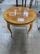 NATURAL WOOD W/ INLAY SIDE TABLE