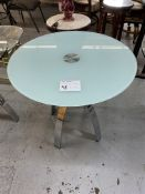 """40"""" ROUND FROSTED GLASS TABLE W/ CHROME LEGS"""