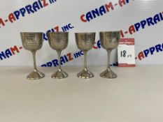 DECORATIVE STAINLESS STEEL WINE GLASSES