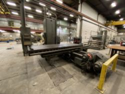 "Giddings & Lewis MN: 350T, 3"" horizontal boring mill, SN: 9330, 134"" x 48"" T-slot table, right-angle"