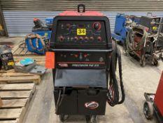 Lincoln model precision TIG 375 squarewave acdc tig welder SN U1020628867 with regulator and