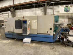 "Mazak Integrex 50 CNC 5-axis turning and machining center, 36"" slant bed, hydraulic tail-stock, 3-"