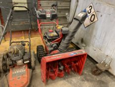 """Lot of landscaping equipment, including Troy bilt 26"""" gas snowblower, a Ariens gas drive 22"""" rolling"""