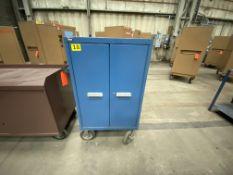 "Vidmar steel rolling cabinet, 3 adjustable shelves 30"" x 28"" x 42"""