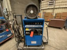 Miller synchrowave 351 CC ac/DC arc welder SN KH316086 with Coolmate 4 water chiller with foot