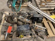 Lot of (4) assorted welding equipement, including (3) Miller hand spot-welders, including dwel