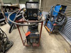 Miller Phoenix 456 CC/CV DC arc welder SN KH551625 60m wire feed, on rolling cart