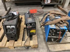 Lot of (3) welding wire feeders, including CK worldwide WF-3 wire feed, Lincoln LN-25 wire feed, and