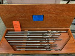 "Critchley Reamer set, including (8) reamers from 15/32"" - 19/32"" ranging to 15/16"" - 1"" new in"