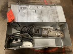 Black and Decker model Timberwolf 1/2 right angle drill in metal case