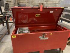 "Dayton Tradesman rolling jobsite box 56"" x 22"" x 20"" I.D."