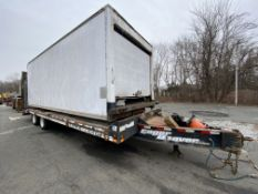 Lot including Eager Beaver 20XPT T/A pintel hook equipment trailer, 21' + 6' ramps, steel frame wood