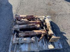 Lot of (6) assorted pneumatic jack hammers
