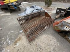 6' skid steer root rake bucket