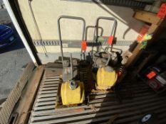 Lot of (2) Wacker Neuson vibratory plate compactors