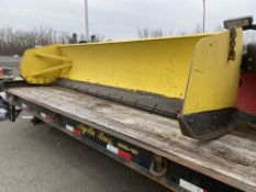 "Avalance 12' X 36"" skid steer snow pusher"