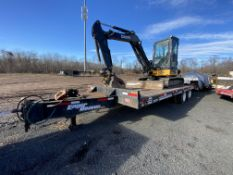 2008 Eager Beaver 20XPT T/A pintel hook equipment trailer, 21' + 6' ramps, steel frame wood deck, 20