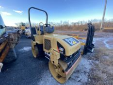 "CAT CB224E double smooth drum vibratory roller, 47"" W X 24"" diameter roller, water system, 44 HP,"