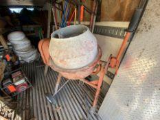 Portable electric cement mixer