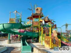 Laguna Kahuna kiddie water park with slides, climbing apparatus, showers, and sprays