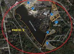 Real Estate Parcel 1, includes Berlin Road, Grove Avenue, Lake Avenue, Lake & Beach Avenue, Clemento
