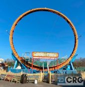 Ring Of Fire 360 degree loop ride, T/A trailer mounted with extended outriggers (Passenger cars,