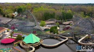 Hell Cat wood deck roller coaster, all galvanized steel structure frame, new in 2005, including