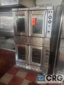 Blodgett SHO-100-G portable twin piggyback style 2-door convection ovens