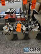Lot of (3) Nordson EFD 626DT Series 5L Cast Aluminum Pressure/Reservoir Tanks