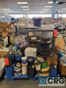 Lot of assorted spools of wire, various thickness and gage