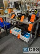 Lot of (2) 4 ft X 24 in. S.S. table with under shelf (LATE REMOVAL)